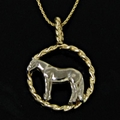 Twisted Rope Quarter Horse Necklace