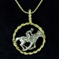 Twisted Rope Thoroughbred Necklace