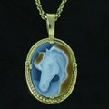 Cameo Horse Head - Brown