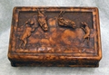 Carved Horse And Dog Box