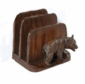 English Oak Business Bear Letter Holder
