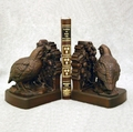 Bronze Finish Quail Bookends
