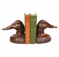 Lifesized Duckhead Burlwood Bookends