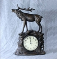 Stag Clock Bronze Finish