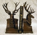 Bronze Finish Deer Head Bookends