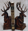 Burlwood Finish Deer Head Bookends
