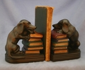 Chewing Dachsund Bookends