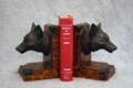 Fox Head Bookends
