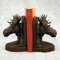 Large Moose Bookends