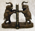 Standing Elephant Bookends