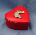 Leather Heart Box