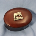 Leather Oval  Box