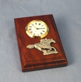 Wood Paperweight Clock