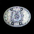 Crystallized Layered Medium Oval