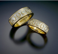 "Bow River ""Diamond Studded Horseshoe Rings"""