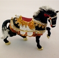 Swarovski Jeweled Brown Running Horse Jewelry Box