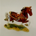Swarovski Jeweled Brown Standing Horse Jewelry Box