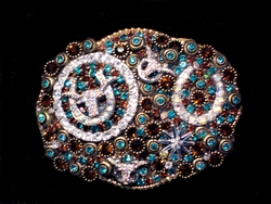 Crystal Embellished Belt Buckles