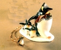 "Kingspoint ""Where's Papa Penguins"" Trinket Box & Necklace"