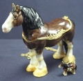 "Kingspoint ""Scotland Clydesdale"" Trinket Box, Necklace"