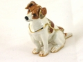 "Kingspoint ""Playful Jack Russell"" Trinket Box & Necklace"