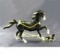"Kingspoint ""Black Horse"" Trinket Box & Necklace"