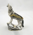 "Kingspoint ""Moonlighting Wolf"" Trinket Box and Necklace"