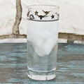 "West Creation ""Longhorn"" Water or Tea Glass 15 � Oz Set 4"