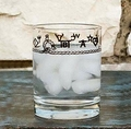 """West Creation """"Brands and Ropes"""" Double Old Fashioned Glass 14 Oz Set"""