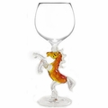 Rearing Horse Stem Wine Glass