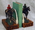 Jockey Boy Horse Bookends