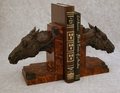 Racehorse Head Bookends