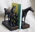 Bronze Finish Horse & Fence Bookends