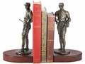 Weigh In Jockey Bookends Cherry Finish Base