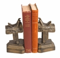 Western Saddle Bookends