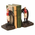 Jockey and Horseshoe Bookends