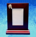 Wood Desk Picture Frame & Tray