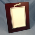 Cherry Finish Picture Frame/Pewter