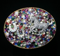 Crystallized Layered Large Oval