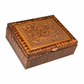 Tooled Faux Leather Box