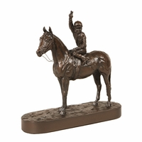 Lucky Number 9 Horse and Jockey Statue
