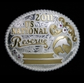 "Reserve National Champion 5"" Buckle Pictured With Silver Berry Edge"