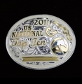 "Top Ten National Champion 4"" Buckle With Silver Wire Edge"