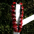 Traditional Single Continuous Strand Champion Rose Garland With No Information Plate