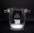 Sterling Trophy Ice Bucket - Looking Left - Log in for quantity pricing of 2 or more trophies.