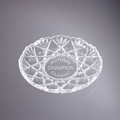 Roxborough Round Crystal Trophy Platter - Log in for quantity pricing of 2 or more trophies.