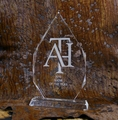Large Optical Crystal Flame Recognition Award Trophy -  Log in for quantity pricing of 2 or more trophies.