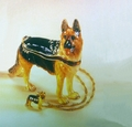 "KP ""The Guardian & Pal German Shepard"" Trinket Box/Necklace"