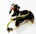 "Kingspoint ""Austrailian Shepherd"" Trinket Box and Necklace"