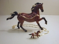 "Kingspoint ""Spirited Arabian Horse"" Trinket Box & Necklace"
